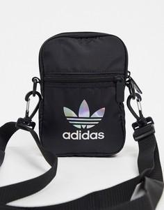 Черная маленькая сумка через плечо adidas Originals-Черный