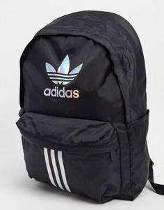 Черный рюкзак с 3D-логотипом и 3 полосками adidas Originals