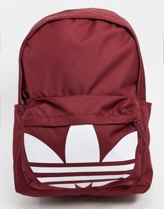 Бордовый рюкзак с логотипом adidas Originals-Красный