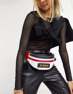 Стеганая сумка-кошелек на пояс в стиле колор блок Love Moschino-Мульти