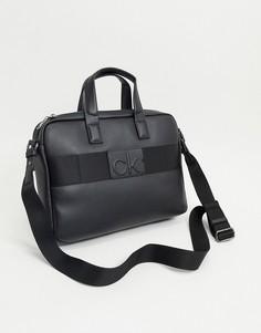 Черная сумка для ноутбука Calvin Klein-Черный