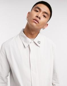 Кремовый макинтош со значком и накладными карманами Albam Utility-Белый
