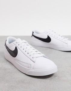 Черно-белые низкие кроссовки Nike Blazer-Черный