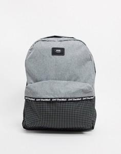 Меланжевый рюкзак с черной вставкой Vans Old Skool-Серый