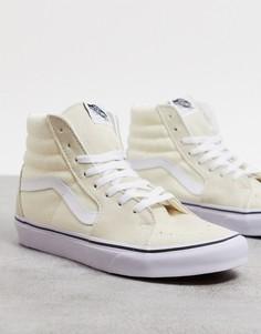 Белые высокие кроссовки Vans UA SK8-Hi-Белый
