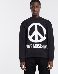 Свитшот с логотипом Love Moschino-Черный