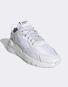 Белые кроссовки adidas Originals Nite Jogger-Белый