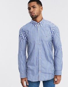 Рубашка в мелкую клетку Tommy Hilfiger-Синий