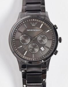 Серые часы Emporio armani-Серый