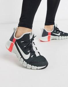 Серые кроссовки Nike Training Free Metcon 3-Серый