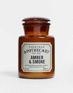 Свеча в стеклянной банке с ароматом амбры и дыма APOTHECARY-Бесцветный Paddywax