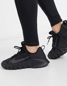 Черные кроссовки Nike Training Free Metcon 3-Черный