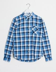 Рубашка узкого кроя в клетку Timberland-Синий