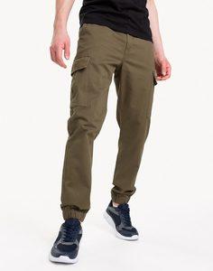 Хаки брюки-карго с резинками Gloria Jeans