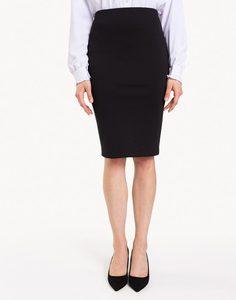 Чёрная юбка-карандаш с разрезом Gloria Jeans