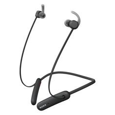 Наушники с микрофоном SONY WI-SP510, Bluetooth, вкладыши, черный [wisp510b.e]