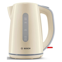 Чайник электрический Bosch TWK7507, 2200Вт, бежевый и серый