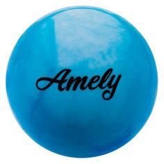 Мяч гимнастический Amely AGB-101 ф.:круглый d=19см синий/белый (УТ-00012858)