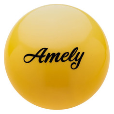 Мяч гимнастический Amely AGB-101 ф.:круглый d=15см желтый (УТ-00012842)