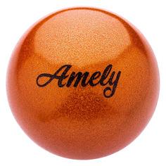 Мяч гимнастический Amely AGB-103 ф.:круглый d=19см оранжевый (УТ-00014049)