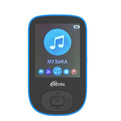 MP3 плеер RITMIX RF-5100BT flash 8ГБ черный/синий