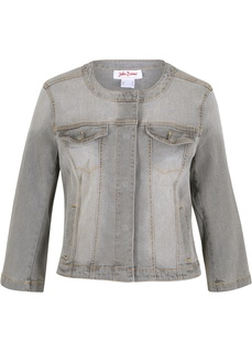 Джинсовые куртки Куртка джинсовая с рукавами 3/4 Bonprix
