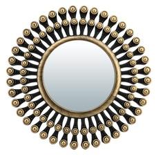 "Зеркало декоративное ""Дижон"", бронза, 25 см, D зеркала 13 см QY"