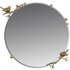 "Зеркало Bogacho ""Терра"" (d=60см), Каштан, цв. к. Амбер(Бр)"