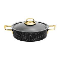 Жаровня алюминиевая Катюша пром черный гранит с золотом 4,8 л