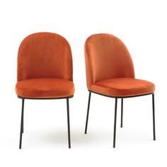 Комплект из велюровых стульев La Redoute