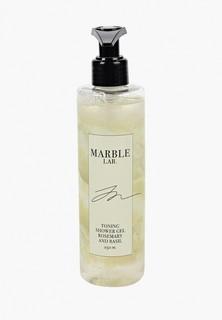 """Гель для душа Marble Lab тонизирующий """"Розмарин и Базилик"""", без сульфатов, 250 мл."""