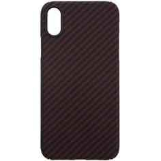 Чехол Barn&Hollis Carbon для iPhone XS Max Matte Red