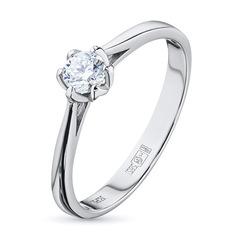 Кольцо из белого золота с бриллиантом э0901кц05166800 ЭПЛ Якутские Бриллианты