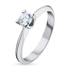 Кольцо из белого золота с бриллиантом э0901кц04091200 ЭПЛ Якутские Бриллианты