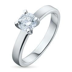 Кольцо из белого золота с бриллиантом э0901кц10161700 ЭПЛ Якутские Бриллианты