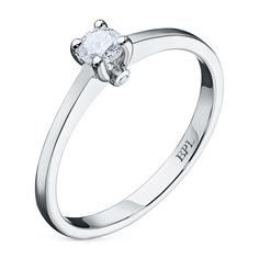 Кольцо из белого золота с бриллиантами э0901кц02150900 ЭПЛ Якутские Бриллианты