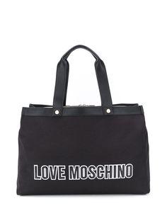 Love Moschino сумка-тоут с нашивкой-логотипом