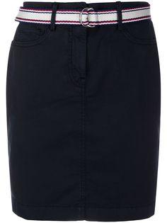 Tommy Hilfiger юбка прямого кроя с поясом