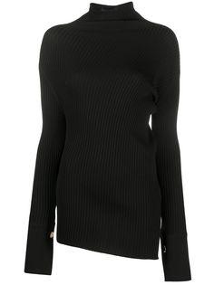 Eudon Choi свитер асимметричного кроя с воротником-стойкой
