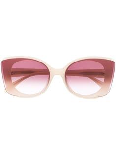 Alexander McQueen Eyewear солнцезащитные очки в квадратной оправе в стиле колор-блок