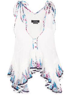 Isabel Marant блузка на бретелях с оборками