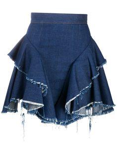 Almaz юбка с оборками и эффектом потертости