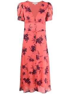 Michael Michael Kors шифоновое платье с цветочным принтом