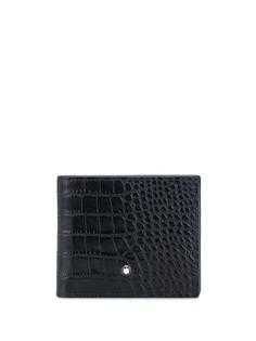 Montblanc бумажник с тиснением под крокодила