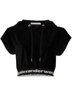 Alexander Wang укороченное худи с логотипом