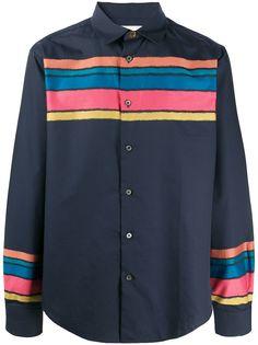 Paul Smith полосатая рубашка в стиле колор-блок