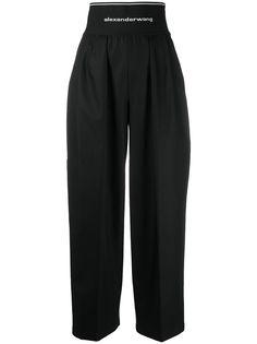 Alexander Wang брюки широкого кроя с завышенной талией