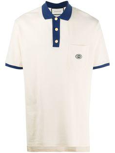 Gucci рубашка поло с вышитым логотипом