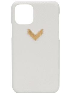 Manokhi чехол для iPhone 11 Pro из зернистой кожи