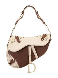 Christian Dior полукруглая сумка с узором Trotter